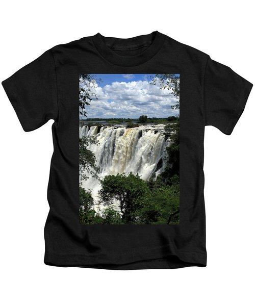 Victoria Falls On The Zambezi River Kids T-Shirt