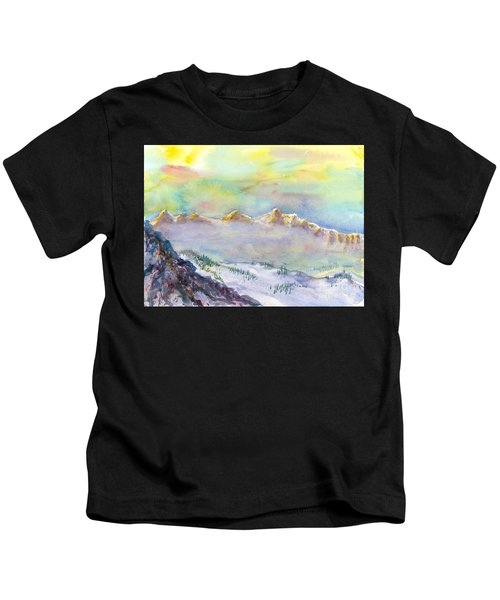 View From Snowbird Kids T-Shirt