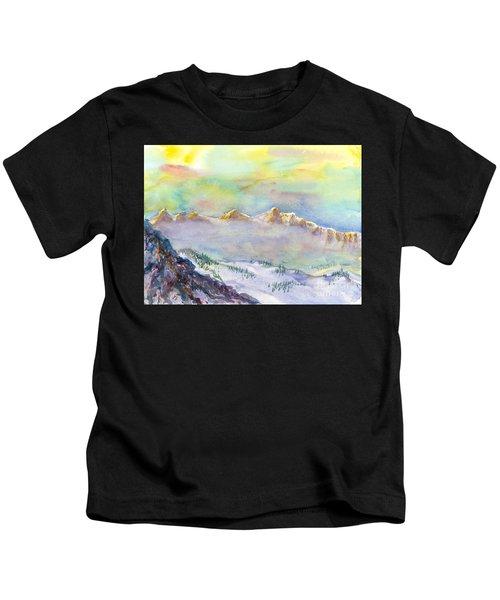 View From Snowbird Kids T-Shirt