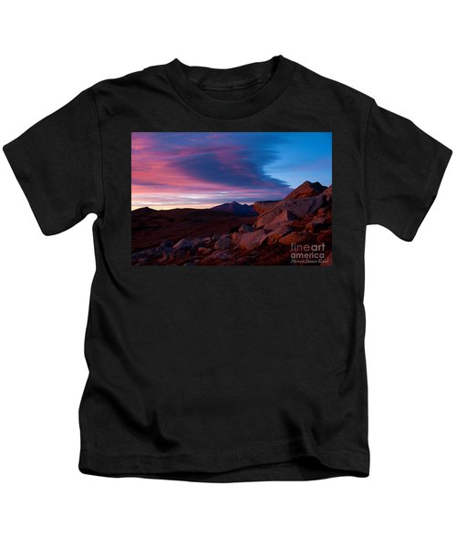 View To Long's Peak Kids T-Shirt