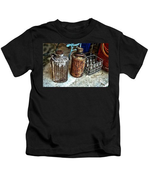 Hdr Vintage Art  Cans And Bottles Kids T-Shirt