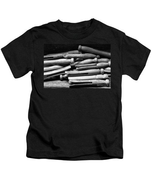 Vintage Clothespins Kids T-Shirt