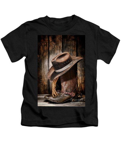 Vintage Cowboy Boots Kids T-Shirt
