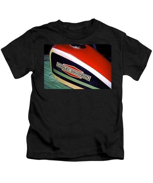 Vintage Harley Davidson Gas Tank Kids T-Shirt