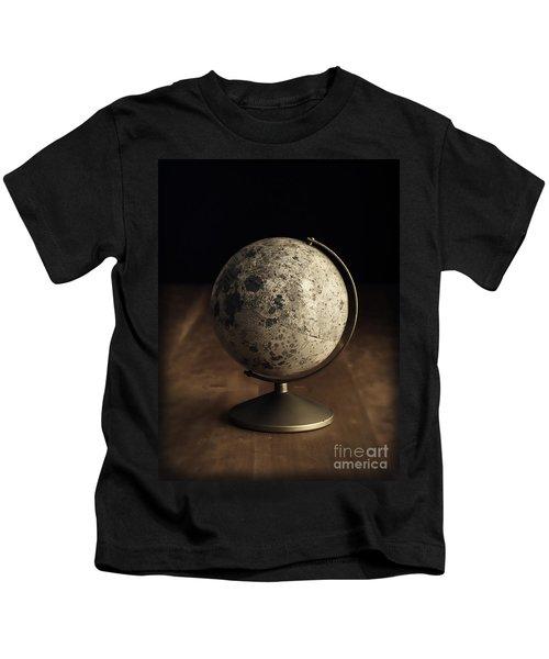 Vintage Moon Globe Kids T-Shirt