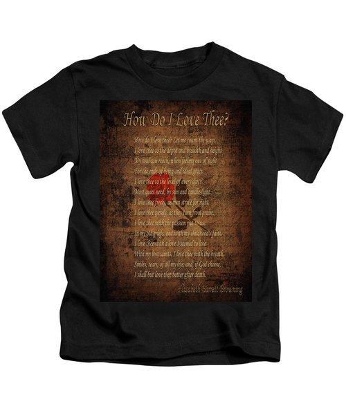 Vintage Poem 4 Kids T-Shirt