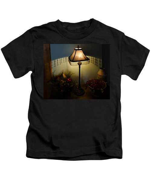 Vintage Still Life And Lamp Kids T-Shirt