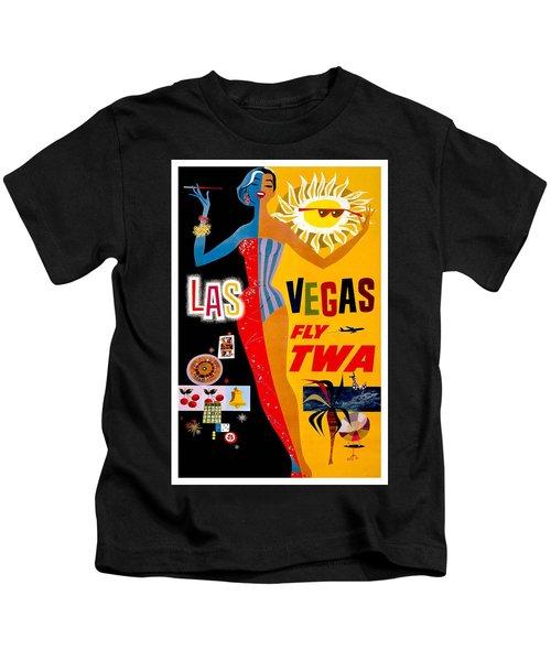 Vintage Travel Poster - Las Vegas Kids T-Shirt