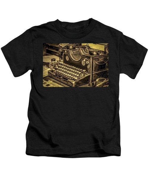 Vintage Typewriter Kids T-Shirt