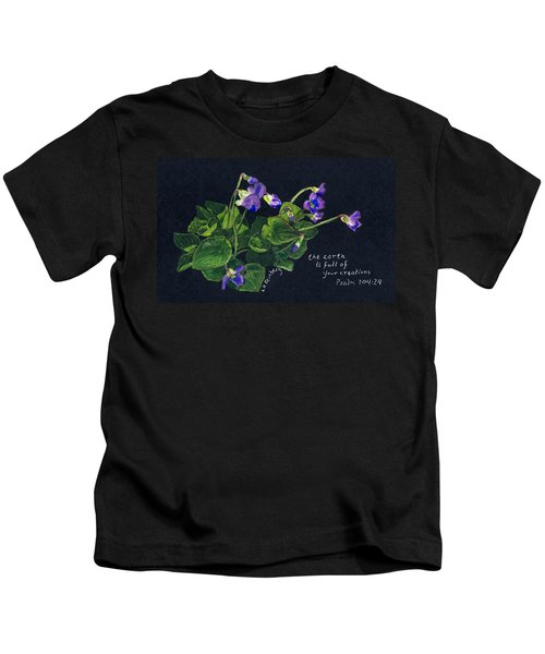Violets And Psalm 104 Kids T-Shirt