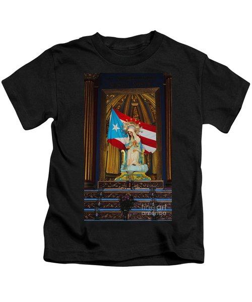 Virgin Mary In Church Kids T-Shirt