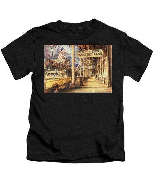Virginia City Nevada - Western Art Painting Kids T-Shirt