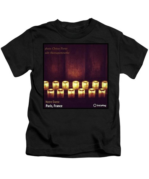 Votive Candles - Notre Dame Cathedral Kids T-Shirt