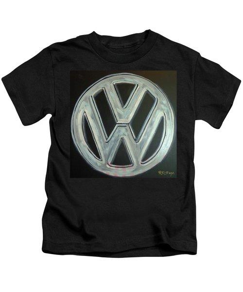 Vw Logo Chrome Kids T-Shirt