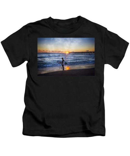 Waiting For A Wave Kids T-Shirt