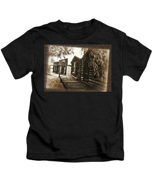 Walking Backwards Kids T-Shirt