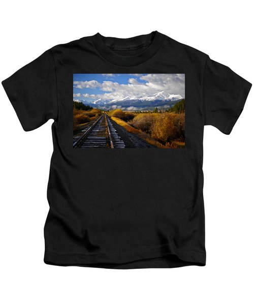 Walking The Rails Kids T-Shirt