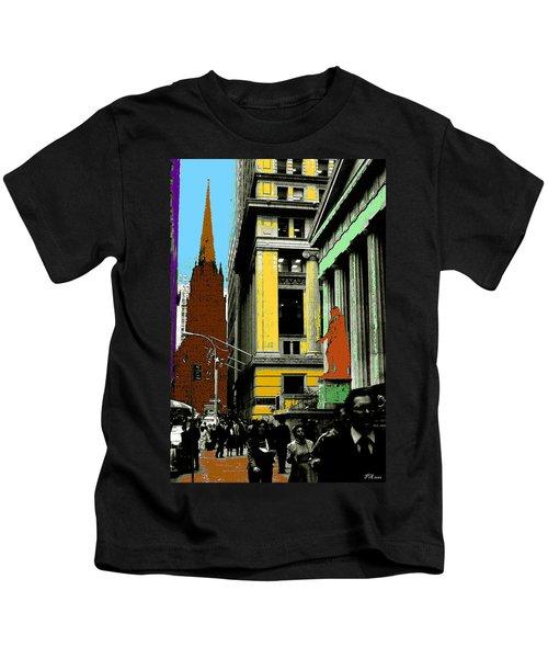 New York Pop Art 99 - Color Illustration Kids T-Shirt