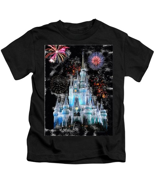 Walt Disney World Frosty Holiday Castle Kids T-Shirt