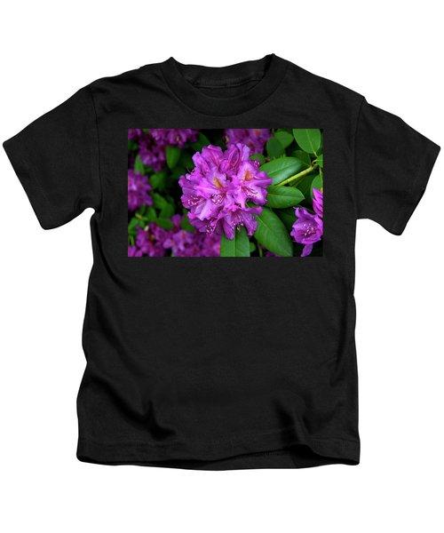 Washington Coastal Rhododendron Kids T-Shirt