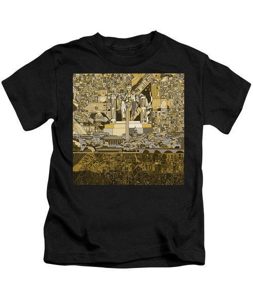 Washington Dc Skyline Abstract 4 Kids T-Shirt