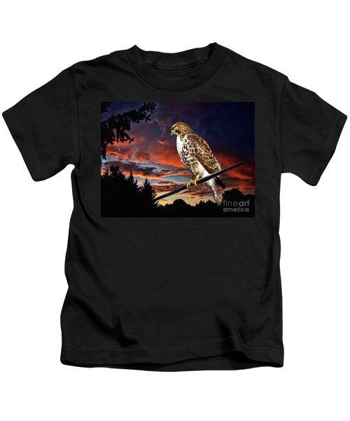 Watching The Sun Set Kids T-Shirt
