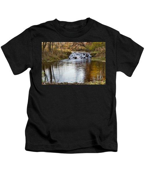 Waterfall At Bonneyville Kids T-Shirt