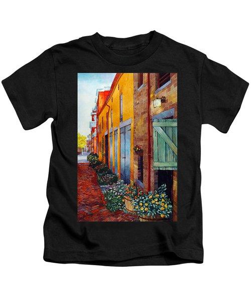 Weathered Door Rustic Path Kids T-Shirt