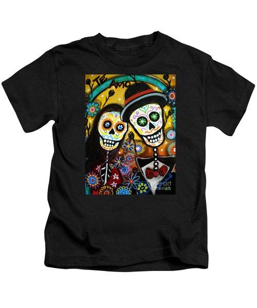 Wedding Dia De Los Muertos Kids T-Shirt