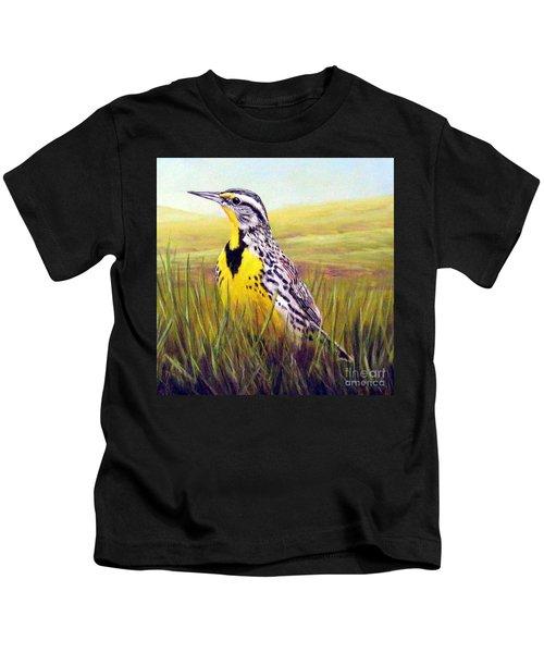 Western Meadowlark Kids T-Shirt