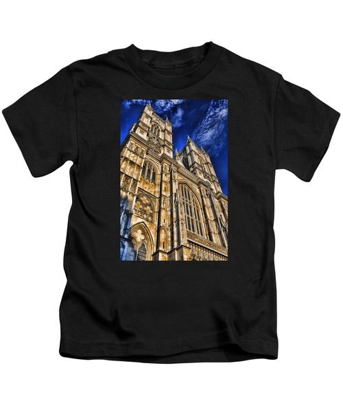 Westminster Abbey West Front Kids T-Shirt by Stephen Stookey