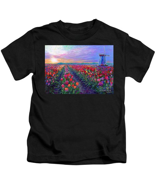Tulip Fields, What Dreams May Come Kids T-Shirt