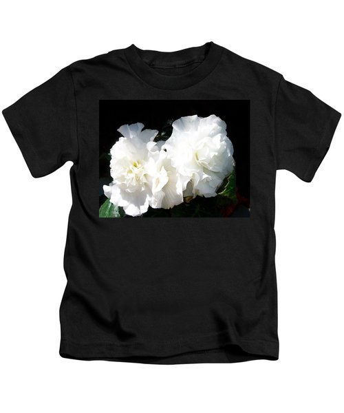 White Begonia  Kids T-Shirt