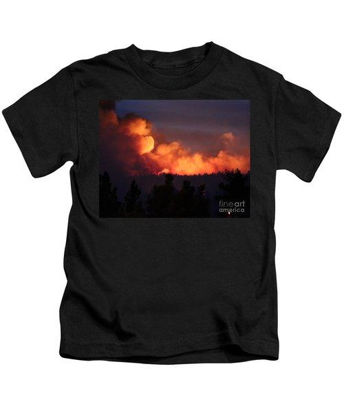 White Draw Fire First Night Kids T-Shirt