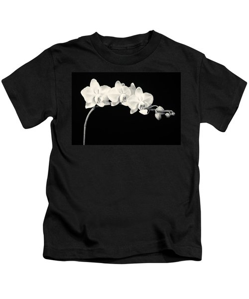 White Orchids Monochrome Kids T-Shirt