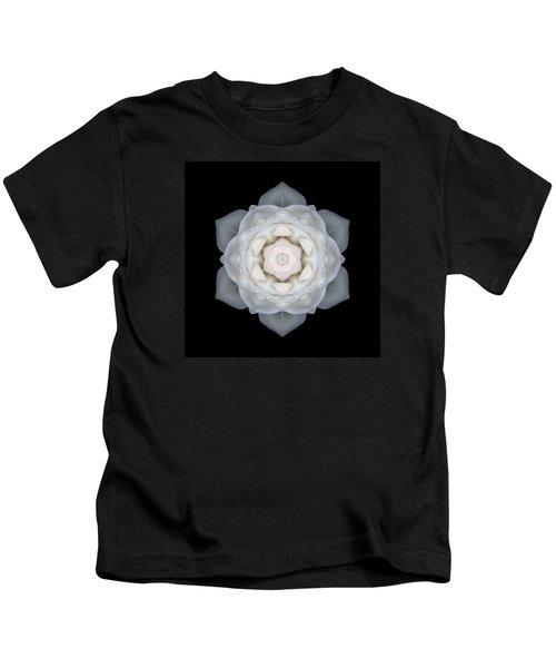 White Rose I Flower Mandala Kids T-Shirt