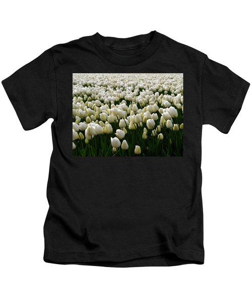 White Tulip Field  Kids T-Shirt