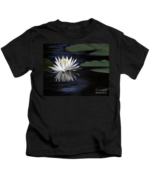 White Water Lily Left Kids T-Shirt