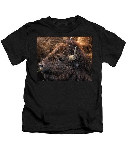 Wild Eye - Bison - Yellowstone Kids T-Shirt