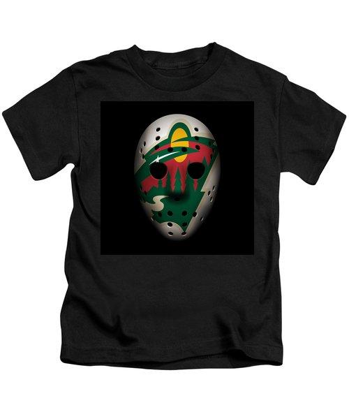 Wild Goalie Mask Kids T-Shirt