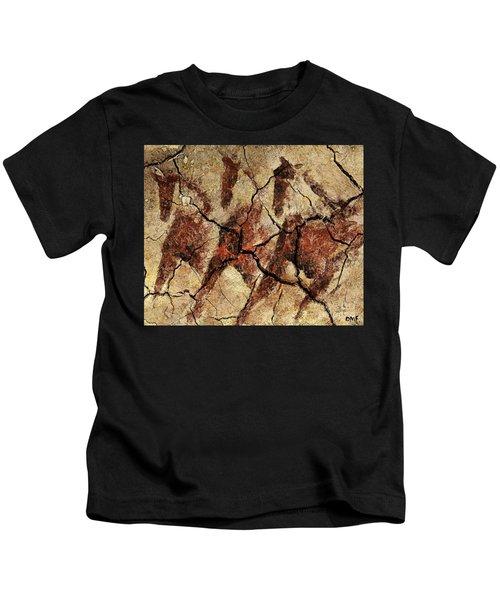 Wild Horses - Cave Art Kids T-Shirt
