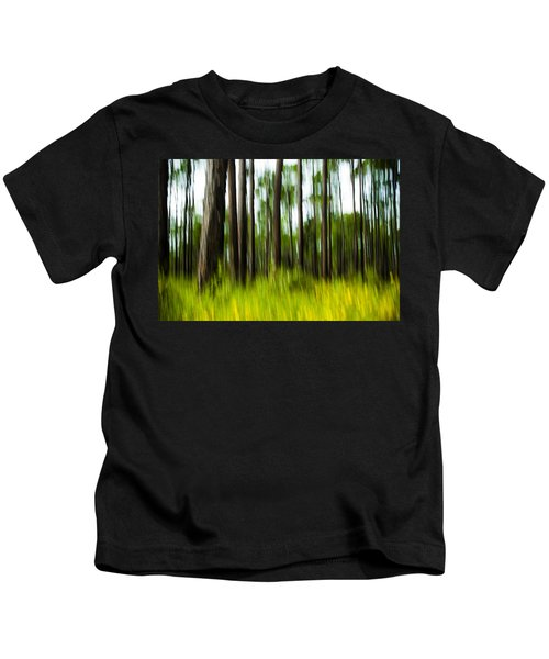 Wildflowers In The Forest Kids T-Shirt