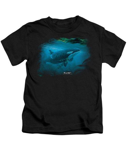Wildlife - Pursuit Thru The Kelp Orca Kids T-Shirt
