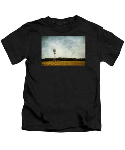 Windmill On The Farm Kids T-Shirt