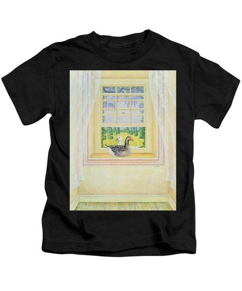 Window Geese Kids T-Shirt
