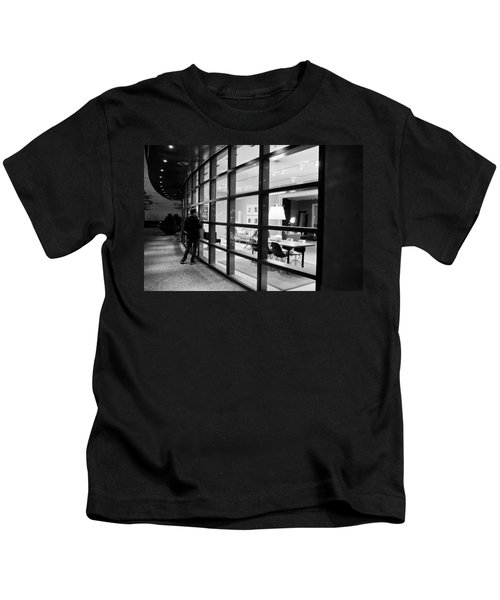 Window Shopping In The Dark Kids T-Shirt