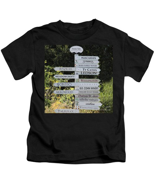 Winery Street Sign In The Sonoma California Wine Country 5d24601 Square Kids T-Shirt