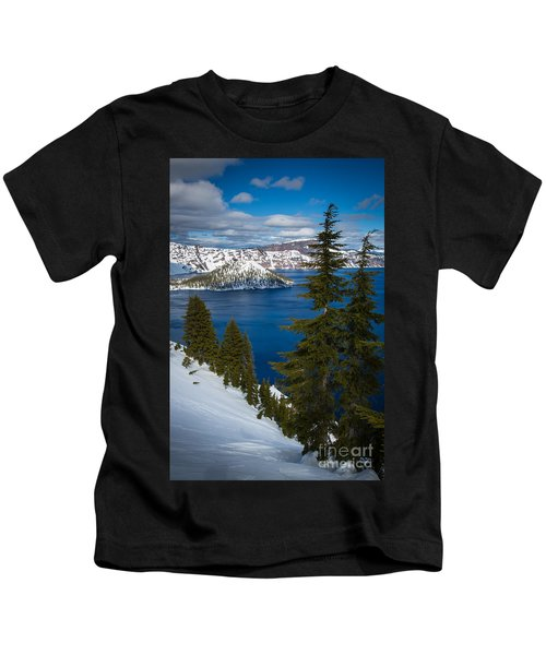 Winter At Crater Lake Kids T-Shirt
