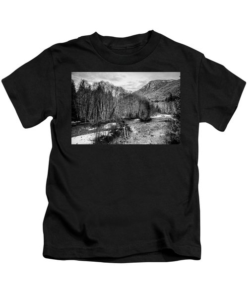 Winter Backroads Englishman River Kids T-Shirt
