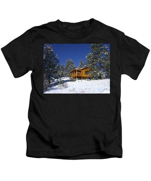 Winter Cabin Kids T-Shirt